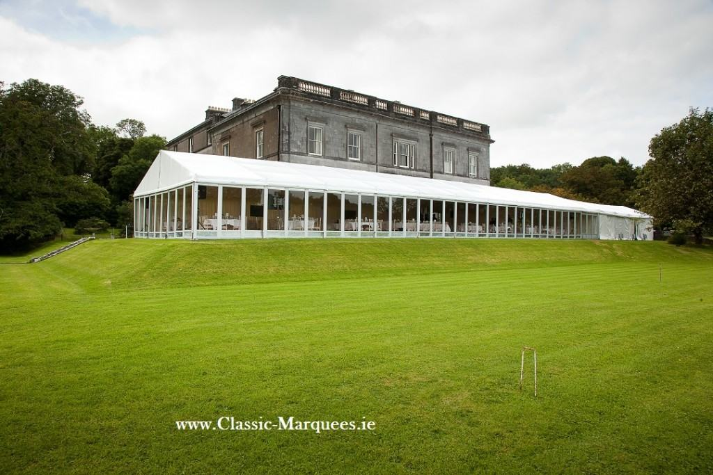 Country house wedding marquee